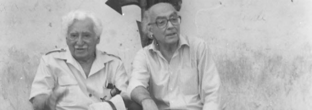 Writers Jorge Amado and José Saramago