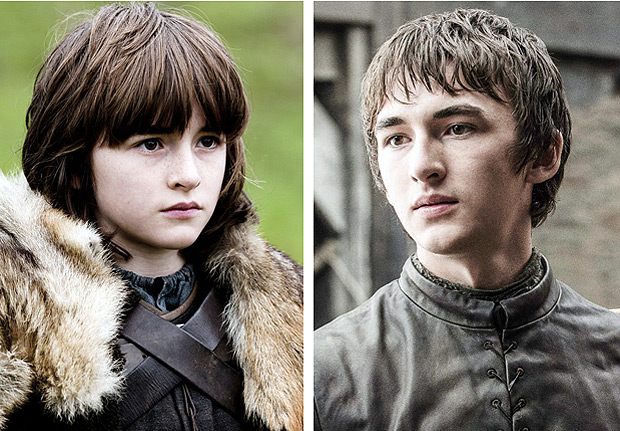 Ator Isaac Hempstead-Wright em 2011, quando come�ou 'Game of Thrones', e na sexta temporada da s�rie