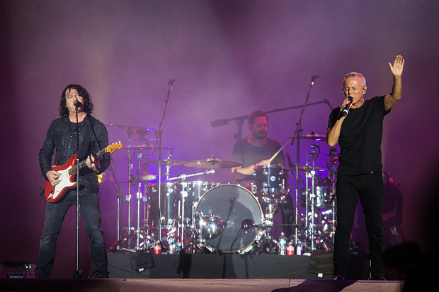 Curt Smith e Roland Orzabal, do Tears for Fears, no Rock in Rio