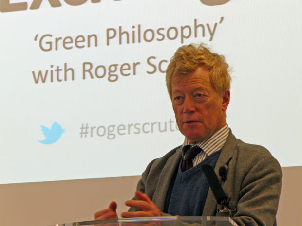 "13 de marco de 2012 Roger Scruton speaking about his book ""Green Philosophy"""