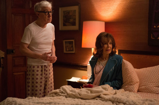 "This image released by Amazon Prime Video shows Woody Allen, left, and Elaine May in a scene from, ""Crisis in Six Scenes."" (Jessica Miglio/Amazon Prime Video via AP)"
