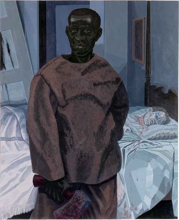 """""""Portrait of Nat Turner with the Head of his Master"""" (2011), de Kerry James Marshall"""