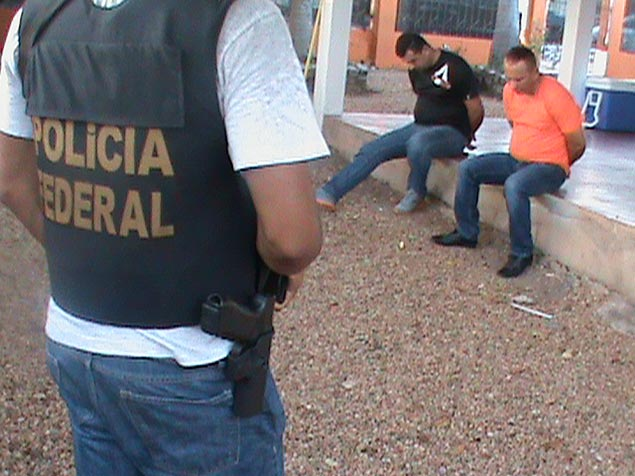 Marcos Jesús Figueroa García (R) was arrested in Boa Vista, Roraima, in a joint operation with the Colombian police