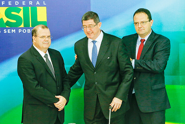 Brazil's incoming finance minister, Joaquim Levy, attends a news conference announcing the government's new economic team