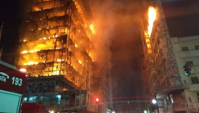 The building collapsed after 90 minutes