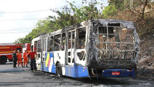 In Uberaba, busses were taken out of circulation