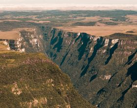 Canyons and Waterfalls Seen in Helicopter Tour over Southern Brazil's Mountains