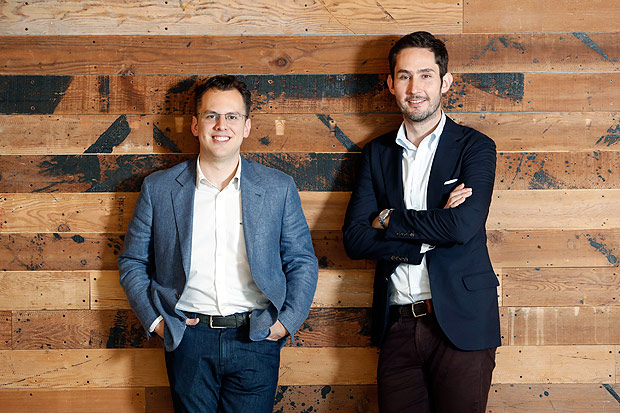 Mike Krieger (à esq.) e Kevin Systrom, fundadores do Instagram