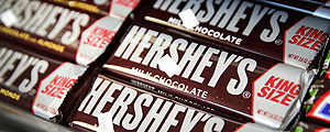 Barras de chocolates da Hershey à venda em Chicago – Scott Olson-15.jul.14/AFP
