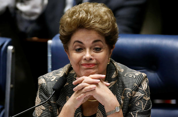 Brazil's suspended President Dilma Rousseff attends the final session of debate and voting on Rousseff's impeachment trial in Brasilia, Brazil, August 29, 2016. REUTERS/Ueslei Marcelino ORG XMIT: BRA130