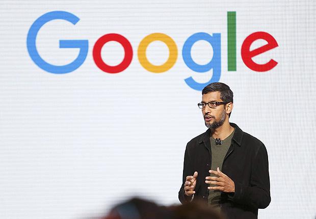 Google CEO Sundar Pichai speaks during the presentation of new Google hardware in San Francisco, California, U.S. October 4, 2016. REUTERS/Beck Diefenbach ORG XMIT: SFO106