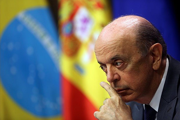 Brazil's Foreign Minister Jose Serra attends a joint news conference with Spain's Foreign Minister Alfonso Dastis (not pictured) in Madrid, Spain November 23, 2016. REUTERS/Susana Vera ORG XMIT: SVP06