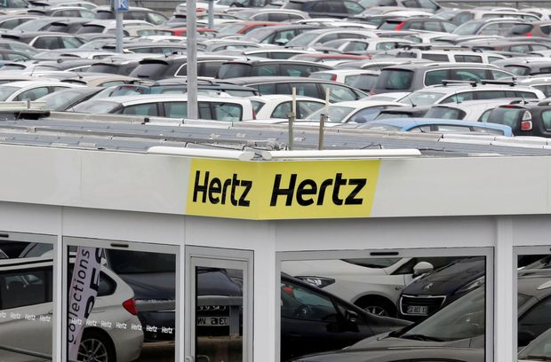 A logo of the American car rental company Hertz is seen at Bordeaux Airport in Merignac, Southwestern France, February 4, 2016. REUTERS/Regis Duvignau/File Photo GLOBAL BUSINESS WEEK AHEAD PACKAGE - SEARCH 'BUSINESS WEEK AHEAD NOV 7' FOR ALL IMAGES ORG XMIT: BWA328