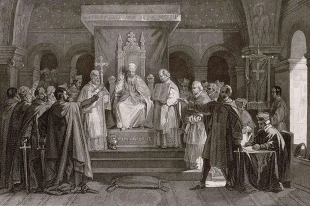Pope secured the officialization of the Knights Templar in 1128