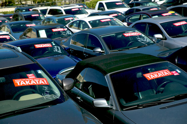 FILE Äî Cars that were traded in because of the Takata airbag recall, at a lot in West Palm Beach, Fla., Jan. 25, 2017. Plaintiffs in a class action say internal documents from at least four automakers show that they continued to use the flawed airbags to save on costs. (Scott McIntyre/The New York Times)