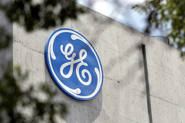 The logo of General Electric Co. is pictured at the Global Operations Center in San Pedro Garza Garcia, neighbouring Monterrey, Mexico, May 12, 2017. REUTERS/Daniel Becerril ORG XMIT: TBR21