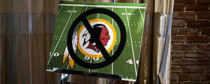 Logo do Washington Redskins, equipe da NFL – Drew Angerer/The New York Times