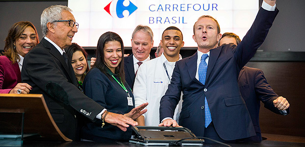 "According to Mr. Diniz, Carrefour Brasil's IPO ""proves that Brazil is a strong country that can overcome its hardships and now it's back on its feet"""