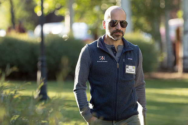 (FILES) This file photo taken on July 7, 2016 shows Dara Khosrowshahi, chief executive officer of Expedia, Inc., attending the annual Allen & Company Sun Valley Conference, July 7, 2016 in Sun Valley, Idaho. Khosrowshahi is credited with turning the company into a global travel services behemoth, winning admiration from employees on the journey. Uber is hoping he will now slip into the driver's seat at the controversy-battered ride-sharing service and steer it along a similarly glorious route. The San Francisco-based startup has yet to confirm reports that Khosrowshahi was picked to replace ousted chief Travis Kalanick. / AFP PHOTO / GETTY IMAGES NORTH AMERICA / Drew Angerer