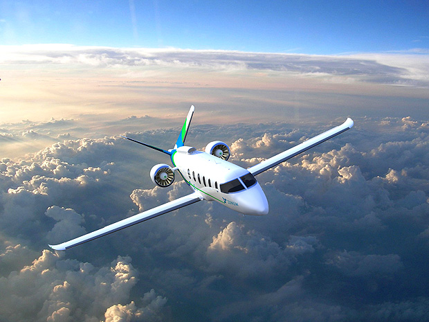 Zunum Aero?s hybrid-electric aircraft, due to enter service in 2022, is seen in this undated artist's rendering released by Zunum Aero on October 5, 2017. The Kirkland, Washington, U.S., company is backed by the venture arms of Boeing Co and JetBlue Airways Corp. Courtesy Zunum Aero/Handout via REUTERS ATTENTION EDITORS - THIS IMAGE HAS BEEN SUPPLIED BY A THIRD PARTY. ORG XMIT: TOR366