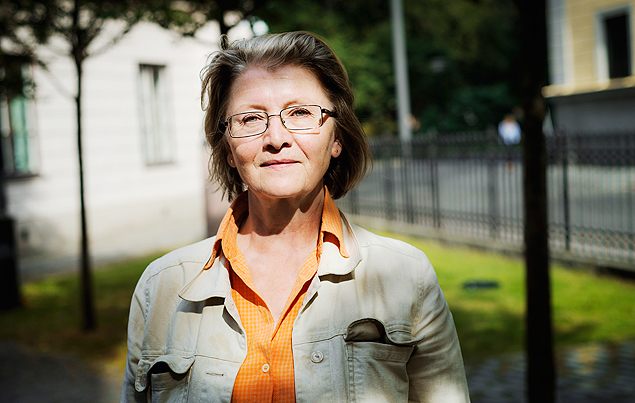 "Eva Gabrielsson, the longtime partner of the late novelist Stieg Larsson, in Stockholm, Aug. 25, 2015. The publication of ""The Girl in the Spider's Web,"" another author's continuation of Larsson's wildly popular detective thrillers, has been traumatic for Gabrielsson, who likens it to a crass manipulation of his legacy for profit. (Moa Karlberg/The New York Times) - XNYT64"