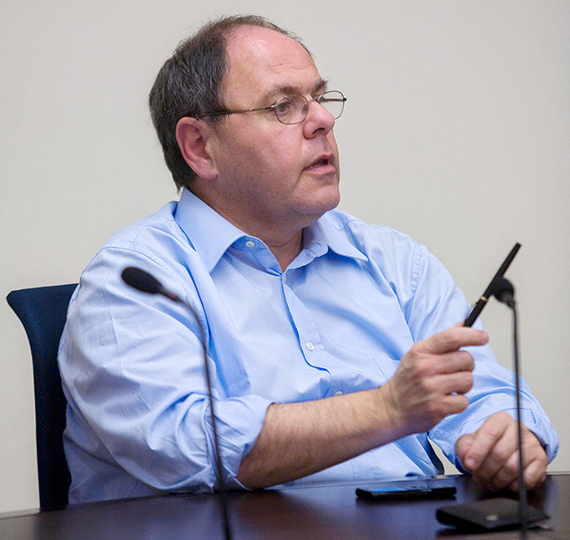 In this Dec. 21, 2009 photo, former Chairman of the Yesha Council Dani Dayan, speaks, during a meeting at the Knesset, Israel's parliament in Jerusalem. In a landmark test case for Israel, the appointment of Dayan as its next ambassador to Brazil is suddenly in trouble due to his ties to the West Bank settlement movement. Brazil has reportedly expressed objections to the appointment of Dayan, raising questions about when or even if he will take up the post. The affair has threatened to embarrass Prime Minister Benjamin Netanyahu, who chose Dayan for the job, and reflects growing international impatience over continued Israeli settlement construction on occupied lands claimed by the Palestinians. (AP Photo/Olivier Fitoussi) ORG XMIT: SEB801