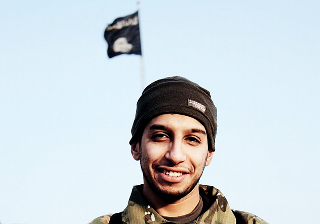 """An undated photograph of a man described as Abdelhamid Abaaoud that was published in the Islamic State's online magazine Dabiq and posted on a social media website. A Belgian national currently in Syria and believed to be one of Islamic State's most active operators is suspected of being behind Friday's attacks in Paris, acccording to a source close to the French investigation. """"He appears to be the brains behind several planned attacks in Europe,"""" the source told Reuters of Abdelhamid Abaaoud, adding he was investigators' best lead as the person likely behind the killing of at least 129 people in Paris on Friday. According to RTL Radio, Abaaoud is a 27-year-old from the Molenbeek suburb of Brussels, home to other members of the militant Islamist cell suspected of having carried out the attacks. REUTERS/Social Media Website via Reuters TVATTENTION EDITORS - THIS PICTURE WAS PROVIDED BY A THIRD PARTY. REUTERS IS UNABLE TO INDEPENDENTLY VERIFY THE AUTHENTICITY, CONTENT, LOCATION OR DATE OF THIS IMAGE. FOR EDITORIAL USE ONLY. NOT FOR SALE FOR MARKETING OR ADVERTISING CAMPAIGNS. FOR EDITORIAL USE ONLY. THIS PICTURE WAS PROCESSED BY REUTERS TO ENHANCE QUALITY. TPX IMAGES OF THE DAY ORG XMIT: PXP101"""