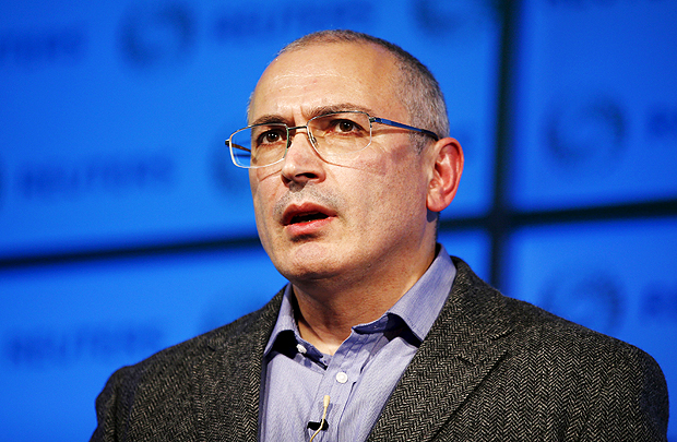 Former Russian tycoon Mikhail Khodorkovsky speaks during a Reuters Newsmaker event at Canary Wharf in London, Britain, November 26, 2015. REUTERS/Peter Nicholls ORG XMIT: PBN101