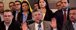 O presidente da Assembleia Nacional da Venezuela, Ramos Allup - – Ariana Cubillos/Associated Press