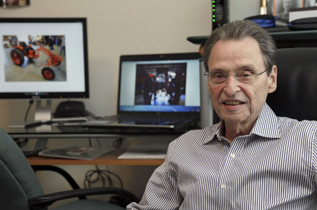 this Feb. 12, 2016 photo, Saul Berenthal, partner in a tractor company, poses for a portrait in his office in Raleigh, N.C. The Treasury Department notified Berenthal and his partner that they can legally build tractors and other heavy equipment in a special economic zone started by the Cuban government to attract foreign investment. The partners said they expect to be building tractors in Cuba by the first quarter of 2017 at the latest. (AP Photo/Gerry Broome) ORG XMIT: NCGB301