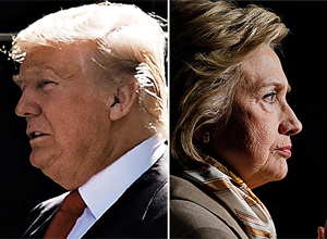 Donald Trump e Hillary Clinton – Spencer Platt/AFP/Pablo Martinez Monsivais/Associated Press
