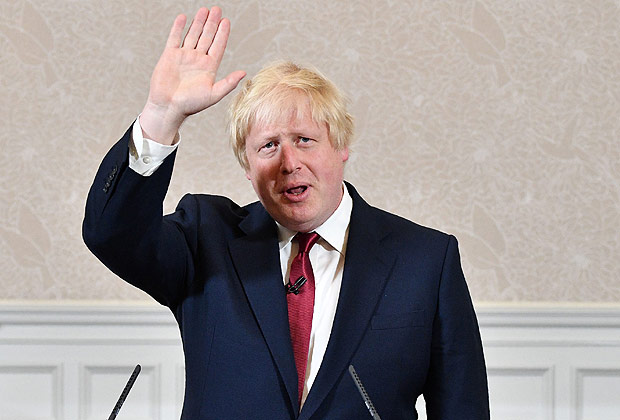 Brexit campaigner and former London mayor Boris Johnson prepares to leave after addressing a press conference in central London on June 30, 2016. Brexit campaigner Boris Johnson said Thursday that he will not stand to succeed Prime Minsiter David Cameron. / AFP PHOTO / LEON NEAL