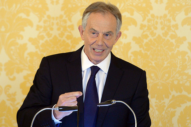 British former Prime Minister Tony Blair holds a press conference at Admiralty House, London, after retired civil servant John Chilcot presented The Iraq Inquiry Report on Wednesday, July 6, 2016. Blair said he takes full responsibility for the decision and that the British military and civil service are not to blame for the problems that developed after the U.S.-led invasion of Iraq in 2003. (Stefan Rousseau/Pool via AP) ORG XMIT: LON159