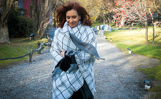 Former Argentine President Cristina Fernandez de Kirchner strolls by the garden of her residence in the Patagonian city of El Calafate, Santa Cruz province, Argentina, July 21, 2016. Picture taken July 21, 2016. Estanislao Santos/Courtesy of Instituto Patria/Handout via REUTERS ATTENTION EDITORS - THIS IMAGE WAS PROVIDED BY A THIRD PARTY. EDITORIAL USE ONLY. NO RESALES. NO ARCHIVES. ORG XMIT: BAS01