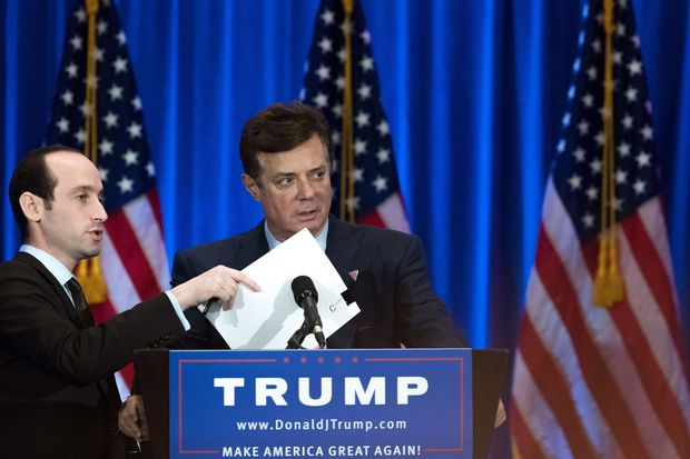 Paul Manafort, chefe de campanha do candidato presidencial republicano Donald Trump
