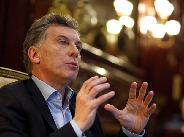Argentine President Mauricio Macri speaks during an interview in Buenos Aires, Argentina, August 8, 2016. Picture taken August 8, 2016. REUTERS/Agustin Marcarian ORG XMIT: BAS07
