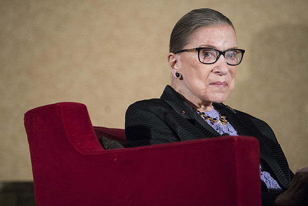"FILE - In this Aug. 19, 2016 file photo, Supreme Court Justice Ruth Bader Ginsburg speaks in Pojoaque, N.M. There have been just two executions since May 1. And the total for 2016 probably will hit a 25-year low. The reduction in executions and in the number of states that are enforcing death sentences led Ginsburg to conclude recently, ""I think the death penalty is fading away."" (AP Photo/Craig Fritz, File) ORG XMIT: WX103"