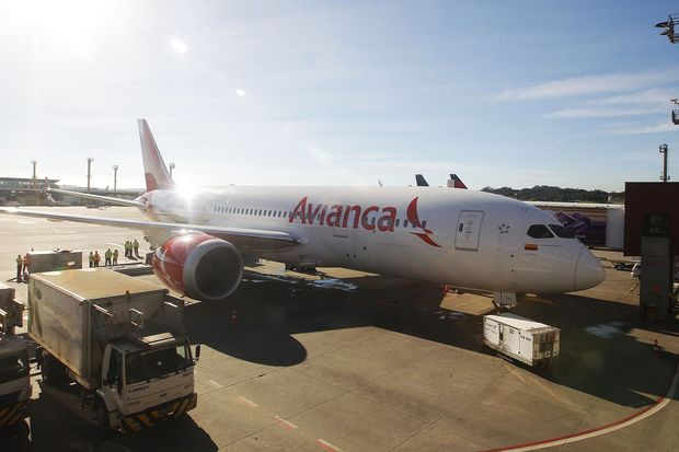 Boeing 787 da Avianca, do mesmo modelo que se envolveu no incidente