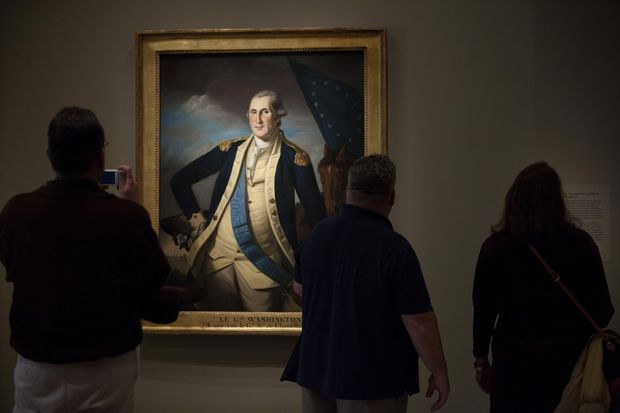 Retrato de George Washington pintado em 1782 por Charles W. Peale � exibido na National Portrait Gallery