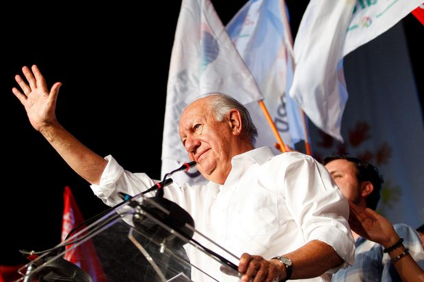Former Chilean president Ricardo Lagos delivers a speech after accepting his party's nomination to run in the 2017 presidential election in Santiago, Chile January 14, 2017. REUTERS/Stringer EDITORIAL USE ONLY. NO RESALES. NO ARCHIVE. CHILE OUT. NO COMMERCIAL OR EDITORIAL SALES IN CHILE ORG XMIT: RG01