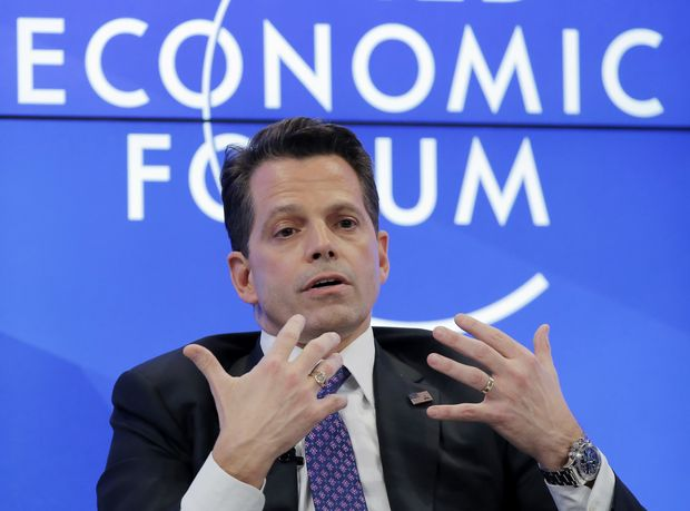 US's Anthony Scaramucci, who is part of President-elect Donald Trump's transition team, speaks at the World Economic Forum in Davos, Switzerland, Tuesday, Jan. 17, 2017. (AP Photo/Michel Euler) ORG XMIT: ME116
