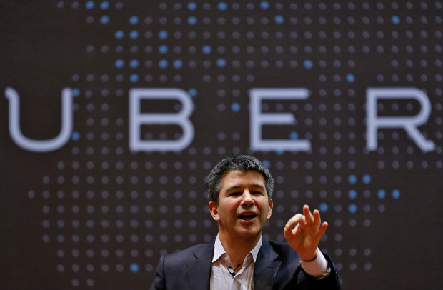 FILE PHOTO Uber CEO Travis Kalanick speaks to students during an interaction at the Indian Institute of Technology (IIT) campus in Mumbai, India, January 19, 2016. REUTERS/Danish Siddiqui/File Photo ORG XMIT: DEL08