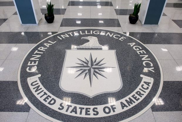 (FILES) This file photo taken on August 13, 2008 shows the seal of the Central Intelligence Agency (CIA) in the lobby of CIA Headquarters in Langley, Virginia. The CIA can turn your TV into a listening device, bypass popular encryption apps, and possibly control your car, according to a trove of alleged documents from the US spy agency released on March 7, 2017 by WikiLeaks. The group posted nearly 9,000 documents it said were leaked from the Central Intelligence Agency, in what it described as the largest-ever publication of secret intelligence materials. / AFP PHOTO / AFP FILES