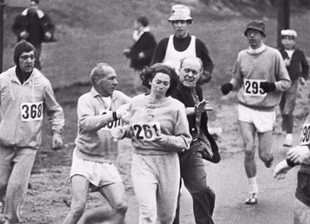 1st woman to officially run Boston Marathon to do it again, 50 years later --- Kathrine Switzer