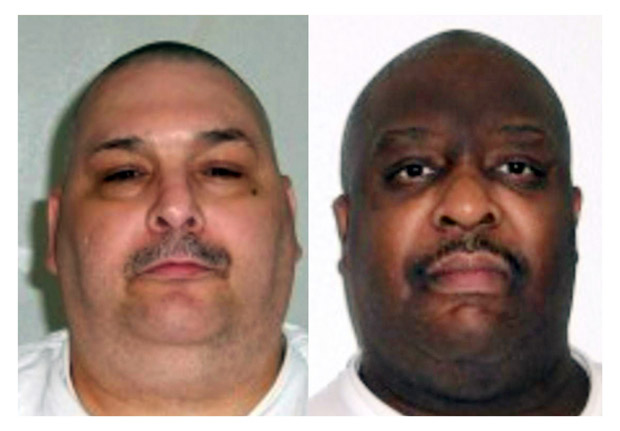"(FILES): These two file pictures obtained from the Arkansas Department of Corrections and created on March 17, 2017 shows death row inmates Jack Harold Jones (L) and Marcel W. Williams (R) who the southern state of Arkansas executed late Monday, April 24, 2017, the first double execution in the United States in 17 years, according to the Arkansas attorney general. Leslie Rutledge said that Jack Jones and Marcel Williams, both sentenced to death in the 1990s, were executed by lethal injection after higher courts rejected their final legal appeals. / AFP PHOTO / Arkansas Department of Correction / HO / RESTRICTED TO EDITORIAL USE - MANDATORY CREDIT ""AFP PHOTO / Arkansas Department of Corrections"" - NO MARKETING NO ADVERTISING CAMPAIGNS - DISTRIBUTED AS A SERVICE TO CLIENTS"