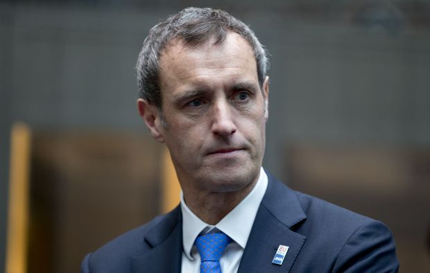 Europol director Rob Wainwright arrives for an informal meeting of EU Justice and Home Affairs ministers at the Maritime Museum in Amsterdam, Netherlands, Monday, Jan. 25, 2016. European Union justice and interior ministers have started urgent discussions on how to tackle the migrant crisis amid the stream of new arrivals and continuing disagreements over how to seal off borders. (AP Photo/Peter Dejong)