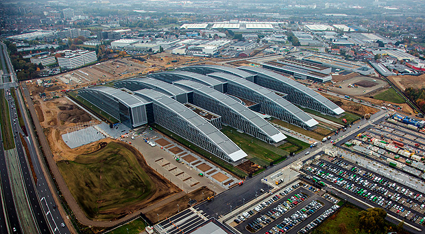 An aerial view of the new NATO Headquarters, made available on the NATO website. Member nations will inaugurate the new NATO headquarters during a summit in Brussels, Belgium, May 25, 2017. Picture taken November 7, 2016. BELGIAN AIR FORCE/Michael Moors/NATO/Handout via Reuters THIS IMAGE HAS BEEN SUPPLIED BY A THIRD PARTY. IT IS DISTRIBUTED, EXACTLY AS RECEIVED BY REUTERS, AS A SERVICE TO CLIENTS FOR EDITORIAL USE ONLY. NO RESALES. NO ARCHIVES ORG XMIT: NAT101