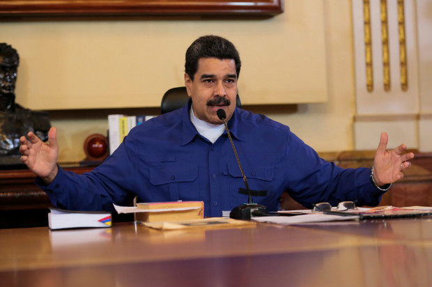 Venezuela's President Nicolas Maduro speaks during a meeting with Vice Presidents at Miraflores Palace in Caracas, Venezuela June 1, 2017. Miraflores Palace/Handout via REUTERS ATTENTION EDITORS - THIS PICTURE WAS PROVIDED BY A THIRD PARTY. EDITORIAL USE ONLY. TPX IMAGES OF THE DAY ORG XMIT: VEN01