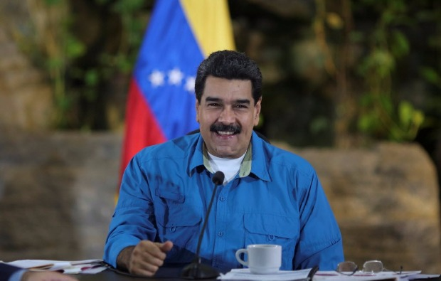 Venezuela's President Nicolas Maduro speaks during a meeting with ministers in La Guaira, Venezuela September 8, 2017. Miraflores Palace/Handout via REUTERS ATTENTION EDITORS - THIS PICTURE WAS PROVIDED BY A THIRD PARTY. ORG XMIT: MIR102