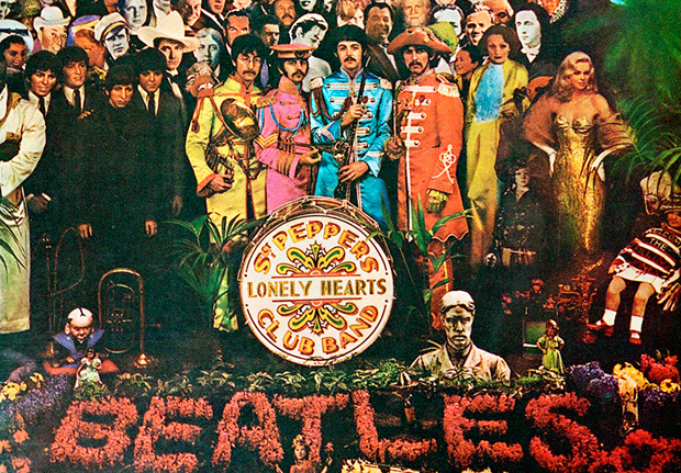 "Capa do disco ""Sgt. Pepper's Lonely Hearts Club Band"", dos Beatles. (Foto: Reprodução)"